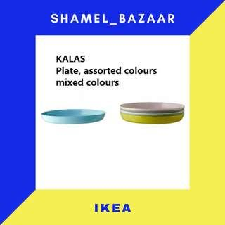 IKEA NEW New KALAS Plate, mixed colours assorted colors