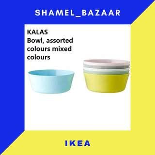 IKEA NEW KALAS Bowl, mixed colours assorted colors