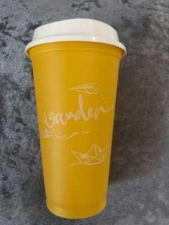 Starbucks Reusable Cups yellow( wander)