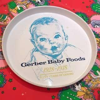 慢寓 | 70年代 中古品 懷舊 Gerber Baby Foods 嘉寶 圓形 鐵盤 / Tray / 鐵皮 托盤 / 置物盤 / 裝飾品 / 掛畫