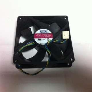 AVC 9公分 4pin PWM 溫控調速 散熱風扇 ~二手良品