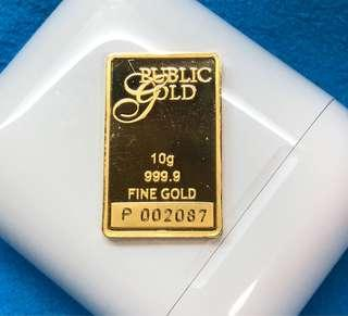 Journey with you, true love, true gold (999 10-g Bar) ❤️