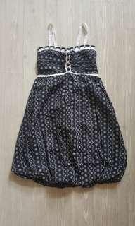 [BNWT] Black Pom Pom Dress