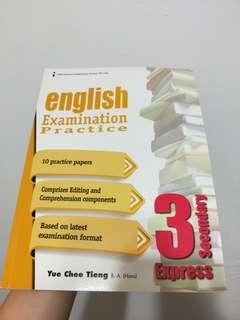 Secondary 3 english ecamination practice