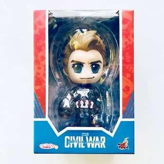MISB Hot Toys Cosbaby Steve Rogers Marvel Captain America Civil War