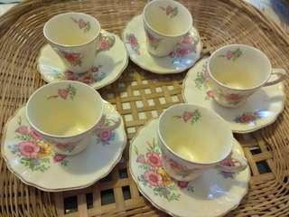 English Coffee cups and saucers