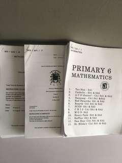 P6 Psle math 2016 Schools examination papers