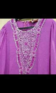 Purple Beaded Jubah