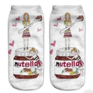 Cute Nutella Ankle Socks