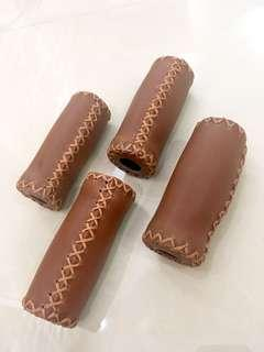 Leather Short Grips
