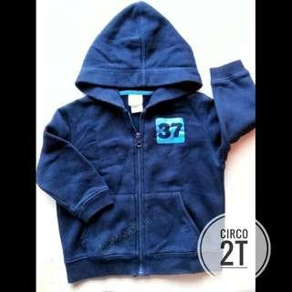 CIRCO HOODIE ZIP UP JACKET SIZE 2T (NAVY BLUE)