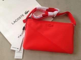 Authentic Lacoste Flat Orange Crossover Bag