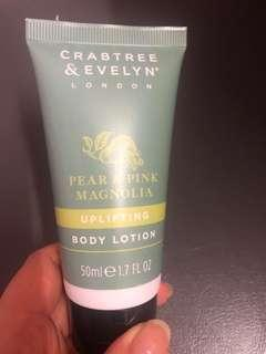 Crabtree & Evelyn Pear & Pink Magnolia body lotion #everything18
