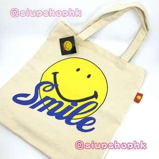 ⚠️ 最後❶個 ⚠️ 日本直送 可愛 Smiley  TOTE BAG 哈哈笑 厚身 側背袋