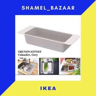 IKEA GRUNDVATTNET Colander, grey