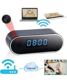 WiFi Hidden Camera Spy Alarm Clock Cam Night Vision Nanny Camcorder Mini DVR Video Record With Motion Detect for Home Security 1080P HD