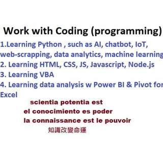 Work w  Coding (programming) STEM