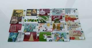 香港星巴克珍藏卡20款 Hong Kong Starbucks Card 20 pcs