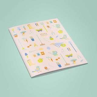 A4 notebook / journal / planner / sketchbook / diary with gardening illustrations #EVERYTHING18
