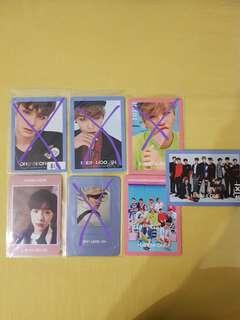 wanna one tbo undivided photocards