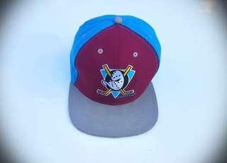 Vintage 90s Anaheim Mighty Ducks NFL Snapback Logo Hat Cap, RARE Disney Blue FREE POST