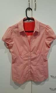 Salmon pink business shirt / blouse