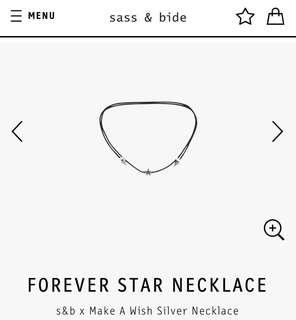 Sass and bide forever star necklace