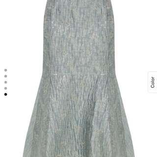 Lubna Metallic Mermaid Hi Low Skirt