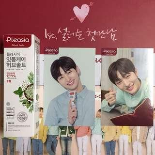 WTS 2SET Pleasia x Wanna One Yoon Jisung