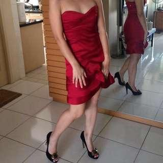 Sexy red tube dress