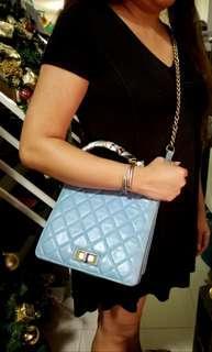 Vintage Chanel Calfskin Chain Sling Bag
