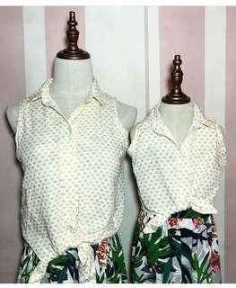 Mother and daughter tops