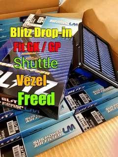 🚚 Blitz Drop in filter for L15b (GK3 GK5 GP7 GB7 Vezel RU Freed GB7)