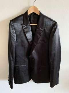 Black Shiny Jack London Blazer