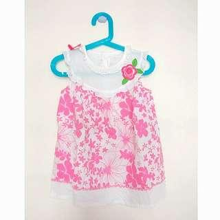 Preloved Floral Pink Dress