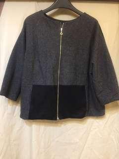🚚 正韓2穿設計款毛料上衣、外套