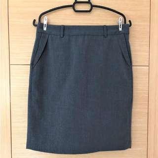 Executive Work Pencil Skirt (Grey) #NEW99
