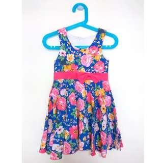 Preloved Floral Blue Dress