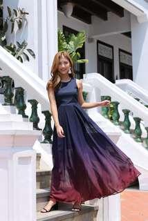 Premium Topazette Ombre Maxi Dress