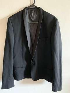 Black Jack London Blazer Satin Look Lapel