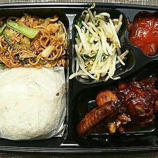 Paket nasi bento spesial ayam menu bisa box kotak catering