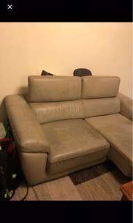 2 seaters leather sofa
