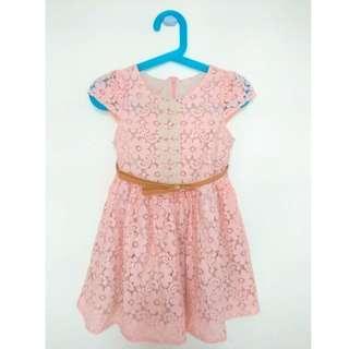 Preloved Lace Pink Dress