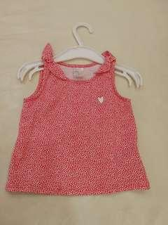 H&M Preloved 3-6 Months Baby Girl Singlet In Red #EVERYTHING18