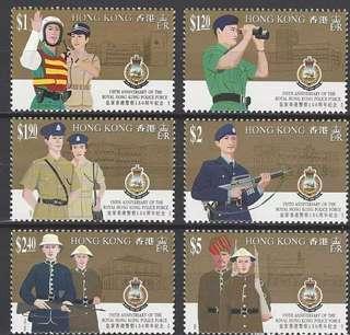 中國香港郵票1994年香港皇家警察150週年紀念
