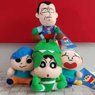 Crayon Shin-Chan and Family Mini Plush Imported from Japan