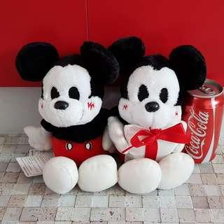 Clearance! Disney Mickey Minnie Mouse Christmas Gift Pair UFO Catcher Prize from Japan