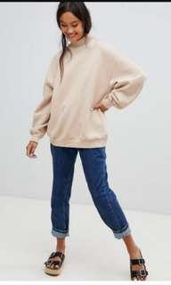 Bershka oversized sweater khaki