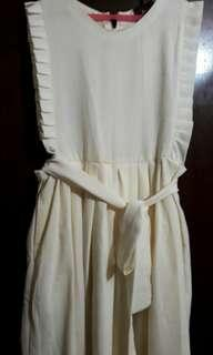 Jumpsuit Overall warna Soft Cream