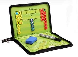 Zip Up Soccer Coaching Board 足球戰術板 有拉鏈,有磁石可寫可擦